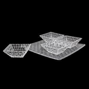 ナハトマン Nachtmann ボサノバ ボウル&プレート 5点セット スクエアプレート スクエアボウル 90023 Bossa Nova 皿 プレート 食器 ガラス|glv|04