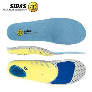 シダス Sidas インソール ラン 3D 326903 ランニング ジョギング マラソン 衝撃吸収 低反発 通気性 Run 3D Blue/White/Yellow 中敷き シューズアクセサリー