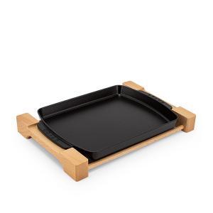 ストウブ Staub ステーキプレート 1205223/40509-523-0 ブラック IH対応|glv