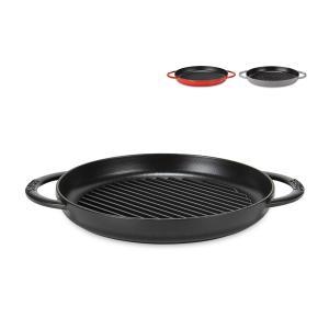 ストウブ Staub グリルパン 26cm ピュアグリル 12030 Grill Round 2 Handles ステーキ バーベキュー BBQ 焼肉 鉄板|glv