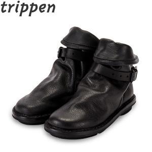 トリッペン Trippen Bomb ボム レザーショートブーツ buf ブラック black|glv