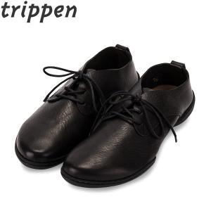 トリッペン Trippen レースアップ シューズ POT 牛革 WAW レディース 靴 レザーシューズ|glv