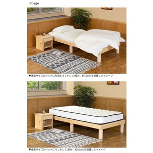 ベッド セミダブルベッド 国産 すのこ ひのき 桧ベッド「アース」セミダブルサイズ gm-shop 05