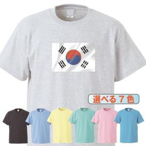 Tシャツ/国旗/韓国/7色/0023a|gmsfactory