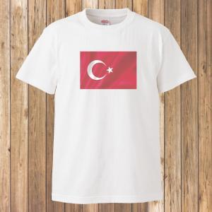 Tシャツ/国旗/トルコ/ホワイト|gmsfactory