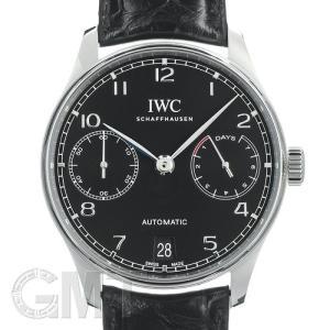 IWC ポルトギーゼ オートマティック 7DAYS ブラック IW500703 IWC 新品 メンズ  腕時計  送料無料  年中無休|gmt