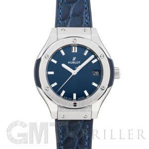 ウブロ クラシック ブルー チタニウム 581.NX.7170.LR HUBLOT 新品 レディース  腕時計  送料無料|gmt