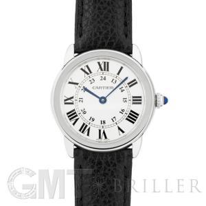 カルティエ ロンドソロ SM WSRN0019 カーフストラップ CARTIER 新品 レディース  腕時計  送料無料  年中無休 gmt