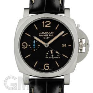 【2017年新作】パネライ ルミノール1950 3days GMT パワーリザーブ 44mm アッチャイオ PAM01321  OFFICINE PANERAI 【新品】【メンズ】 【腕時計】|gmt