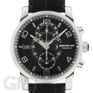 モンブラン タイムウォーカー ツインフライクロノグラフ ブラック 105077 MONTBLANC 新品 メンズ  腕時計  送料無料  年中無休 gmt