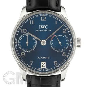 IWC ポルトギーゼ オートマティック 7DAYS IW500710 ブルー IWC 新品 メンズ  腕時計  送料無料  年中無休|gmt