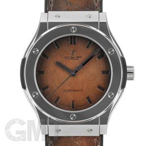 ウブロ ベルルッティスクリットプラチナ ブラウン限定100本  HUBLOT 新品 メンズ  腕時計  送料無料  年中無休|gmt
