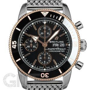 ブライトリング スーパーオーシャンヘリテージ II クロノグラフ 44 ブラック ブレス U275B-1OCA BREITLING BREITLING 新品 メンズ  腕時計 gmt