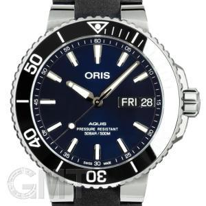 オリス アクイス デイト 752 7733 4135R ブルーダイヤル ブラックラバー 45.5mm ORIS 【新品】【メンズ】 【腕時計】 【送料無料】 【年中無休】|gmt