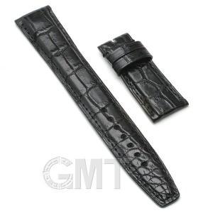 GMT オリジナルアクセサリー 革バンド IWC用 ストラップ クロコダイル サイズ20mm-18mm ブラック|gmt