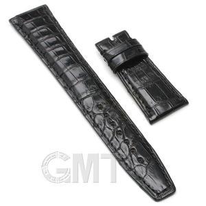 GMT オリジナルアクセサリー 革バンド IWC用 ストラップ クロコダイル サイズ22mm-18mm ブラック|gmt