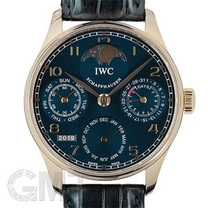 IWC ポルトギーゼ パーペチュアルカレンダー ブルー IW502220世界限定100本 IWC 中古メンズ 腕時計 送料無料 年中無休|gmt
