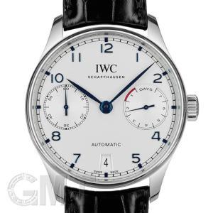 IWC  ポルトギーゼ IW500705 ポルトギーゼ 7DAYS シルバー/青針 IWC 【中古】【メンズ】 【腕時計】 【送料無料】 【年中無休】|gmt
