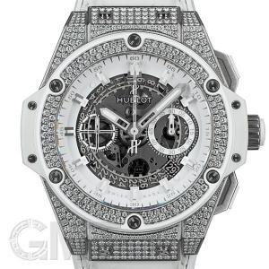 ウブロ キングパワー ウニコ チタニウム パヴェダイヤ ホワイト 701.NE.0127.GR.1704 HUBLOT 中古メンズ 腕時計 送料無料 年中無休|gmt