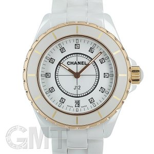 シャネル J12 ホワイトセラミック 38mm 11Pダイヤ PGベゼル H2180 CHANEL 中古メンズ 腕時計 送料無料 年中無休 gmt