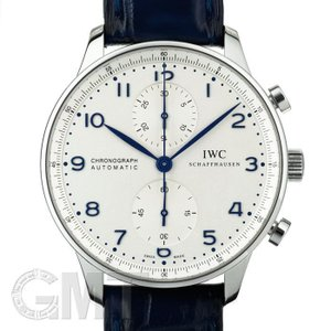 IWC ポルトギーゼクロノグラフ オートマティック IW371446 シルバー/ブルー針 IWC 【中古】【メンズ】 【腕時計】 【送料無料】 【年中無休】|gmt