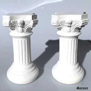 ◆古代ギリシャ ローマ ミニチュア 支柱 2本セット  インテリアのワンポイントとしてもジュエリー・...