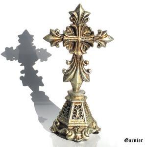 ◆クロス(十字架)モチーフのインテリアデコレーションオブジェになります。  ◆アンティーク調に加工さ...