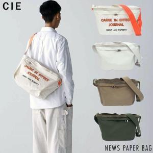 ショルダーバッグ メンズ メッセンジャー 斜め掛け CIE NEWS PAPER BAG 軽量 普段...