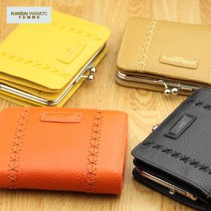 二つ折り財布 レディース KANSAI YAMAMOTO カンサイヤマモト 本革 がま口|gobangai