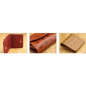 二つ折り財布 レディース CAT Motif 本革 日本製 春財布|gobangai|06