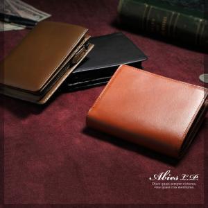 二つ折り財布 メンズ イタリアンレザー 本革 小銭入れつき gobangai 02
