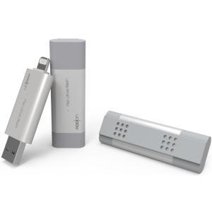 ライトニングコネクタ対応 USBメモリ 64GB Pendrive iFlash Pro 64GB シルバー
