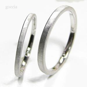 華奢な結婚指輪。ハードプラチナ900で製作。細みなデザイン、刻印も入れられます。|goccia