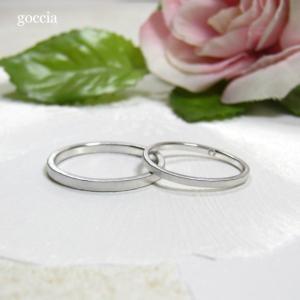 華奢な結婚指輪。ハードプラチナ900で製作。細みなデザイン、刻印も入れられます。 goccia 03