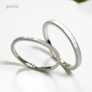華奢な結婚指輪。ハードプラチナ900で製作。細みなデザイン、刻印も入れられます。 goccia 04