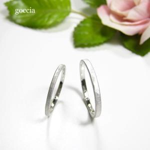 華奢な結婚指輪。ハードプラチナ900で製作。細みなデザイン、刻印も入れられます。 goccia 05