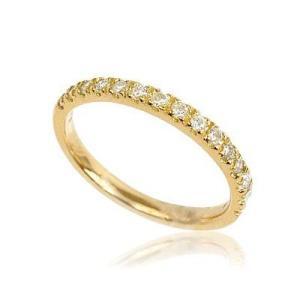 天然ダイヤモンド、ハーフエタニティリング 11号|goccia