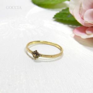 アンティークな雰囲気の華奢リング。 goccia 02