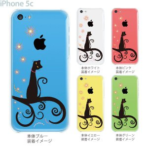 iPhone5c ケース カバー スマホケース クリアケース Clear Arts ネコ  21-ip5c-ca0014 gochumon
