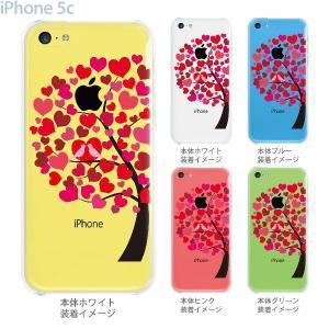 iPhone5c ケース カバー スマホケース クリアケース Clear Arts ハート木  22-ip5c-ca0091 gochumon