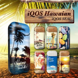 iQOS アイコス シール ケース カバー タバコ 電子タバコ ステッカー アイコスシール iQOSシール ハワイアン iqos-012|gochumon