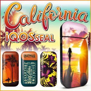 iQOS アイコス シール ケース カバー タバコ 電子タバコ ステッカー アイコスシール iQOSシールCalifornia カリフォルニア iqos-048|gochumon