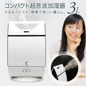 加湿器 卓上 オフィース おしゃれ 超音波加湿器 3リットル 大容量 最大30時間 超音波 コンパクト かわいい スチーム jiang-mist|gochumon