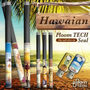 プルームテックシール プルームテック シール ケース Ploom Tech タバコ 電子タバコ ploomtechシール スキンシール ハワイアン pt-008 送料無料|gochumon