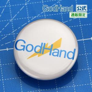 ゴッドハンド ロゴ 缶バッジ (白) ゴッドハンド 直販限定 godhand