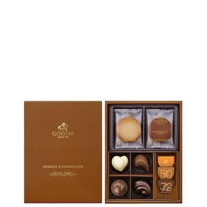 クッキーとゴールド コレクションを詰め合わせました。ゴディバの豊富なバラエティを、贅沢にひと箱で楽し...