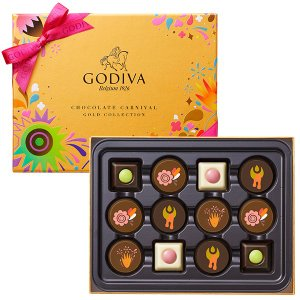 チョコレート カーニバル ゴールド コレクション 12粒|godiva