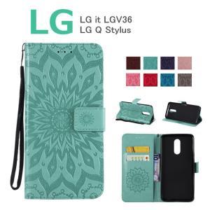 対応機種: LG it LGV36 LG Q Stylus  素材:PUレザー+TPU  ・外観のデ...