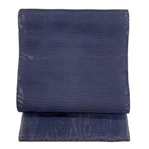 特別価格品  夏帯 八寸 名古屋帯  絽つづれ 波おさ文様 ( 正絹 ) ◇ 名古屋帯お仕立かがり 追加3,850円でお受けいたします。|gofuku-masuya