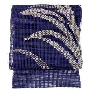 特別価格品  夏帯 八寸 名古屋帯  変わり羅織り 幾何学文様 ( 正絹 ) ◇ 名古屋帯お仕立かがり 追加3,850円でお受けいたします。|gofuku-masuya